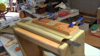 Tweed covering Fender Deluxe 5E3 Clone cabinet Part 2