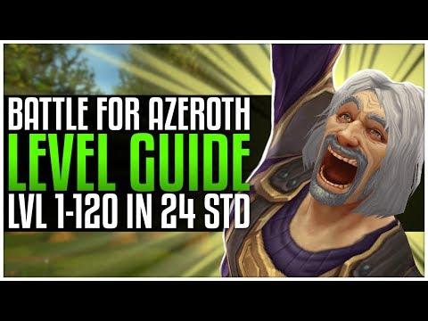 Level 1-120 In 24 Std | World Of Warcraft BFA Leveling Guide [Deutsch]
