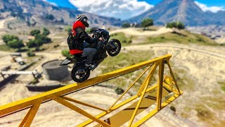 EPIC MOTORBIKE CRANE STUNT! - (GTA 5 Stunts & Fails)