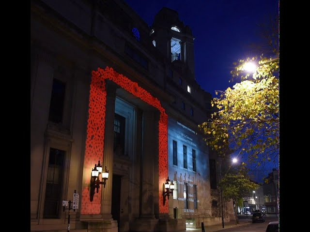 UGLE Remembers - Poppy projection