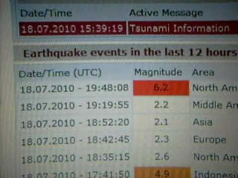 6.2 Earthquake (Nikolski Alaska) aftershock