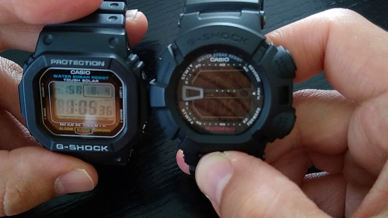 Casio G Shock G 5600 Review Comparison With Mudman G 9000 And Dw 6900