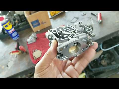 How To Clean Carburetor and Impeller Replacement  on Mercury 15 (four stroke)