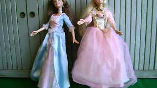 BARBIE~PRINCESS AND THE PAUPER~ANNELIESE~ERIKA~2 SINGING DOLLS~WORKS~B5768~2004