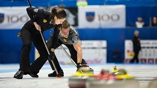 CURLING: FIN-RUS WCF World Mixed Doubles Chp 2016 - Quarters