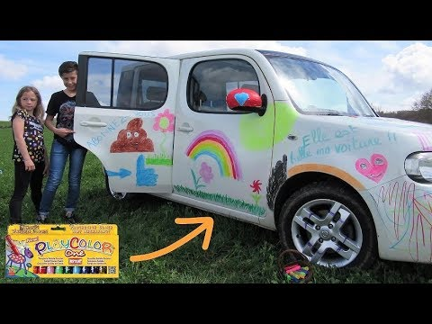 CAR MARKER CHALLENGE : On prank maman