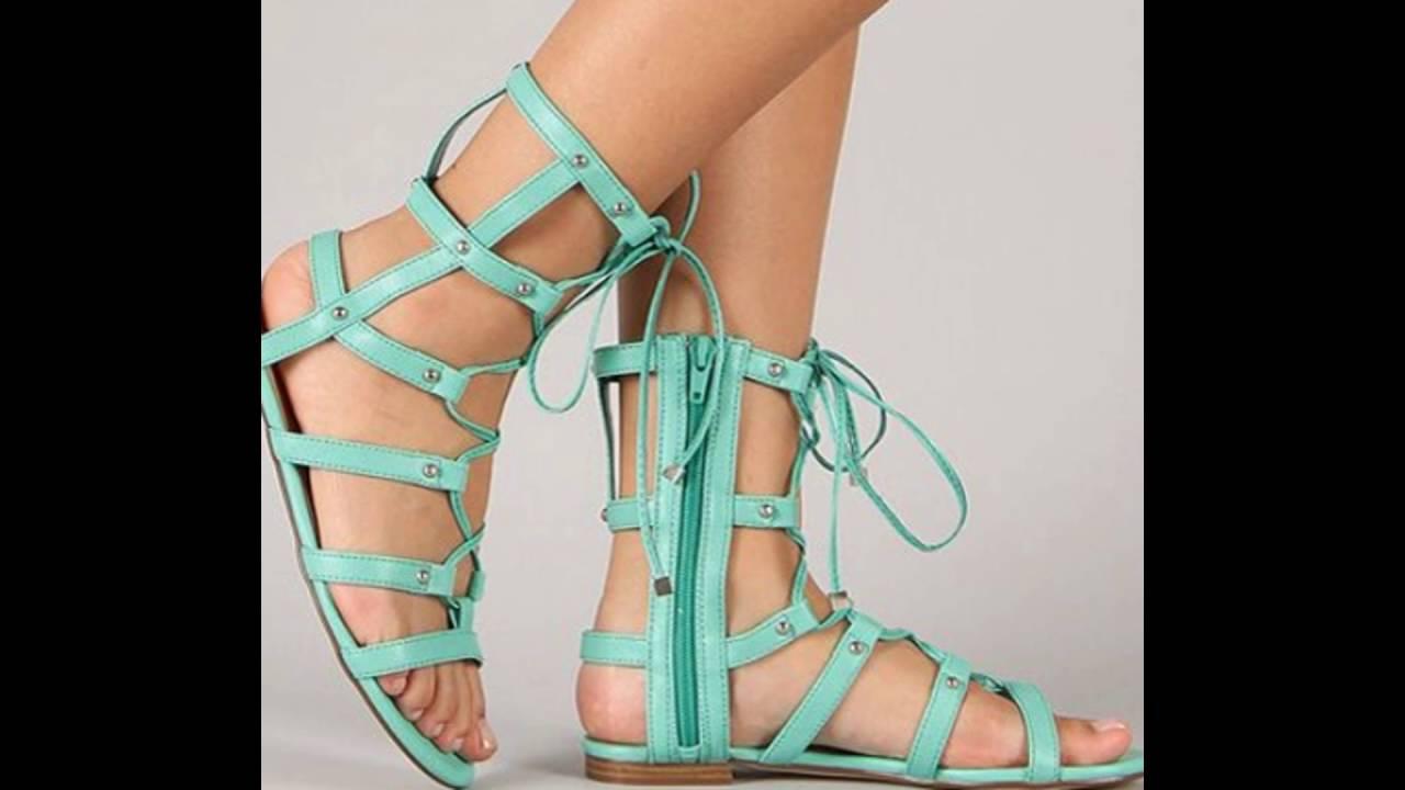 ec2fef3f404 Mint green gladiator sandals - YouTube