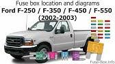 Ford F250 F350 F450 F550 1999 2001 Fuse Box Diagrams