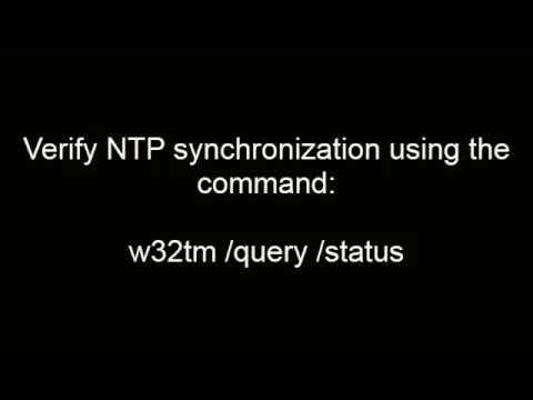 Configuring NTP on Windows 2012 Server