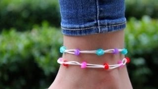 Rainbow Loom Nederlands - Hawaii Enkelbandje (Original Design) - Loom bands
