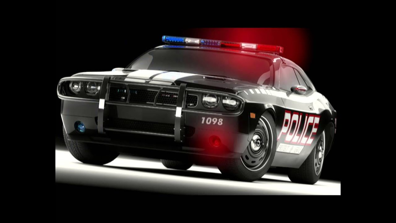 Police Car Siren And Lights  Animated  Hd