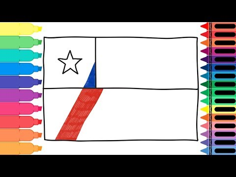 How to Draw Chile Flag - Drawing the Chilean Flag - Art colors for kids | Tanimated Toys