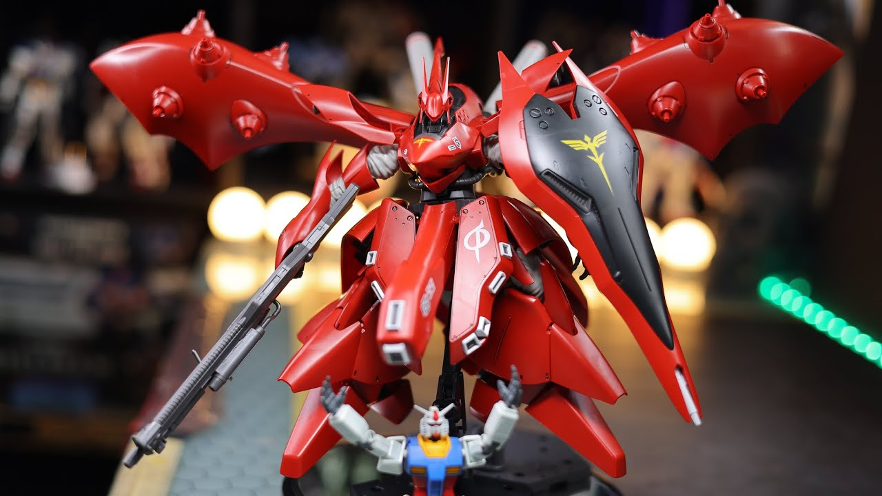 HG 1/144 Nightingale 4K Build and Review | GUNDAM CHAR'S COUNTERATTACK BC