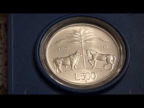 Italy 1981 500 Lira Silver - 2000th Anniversary Of The Death Of Virgil