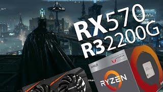 Batman: Arkham Knight | Ryzen 3 (2200G) + RX 570 (4GB) 63fps!!!
