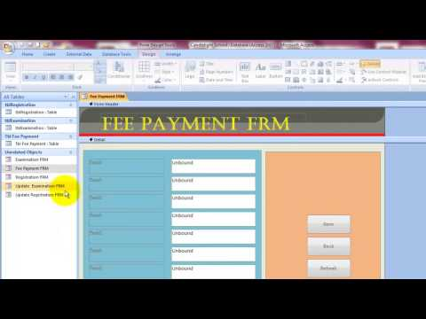 Chapter 2: Lesson 13 -  Fee Payment Form Property Sheet