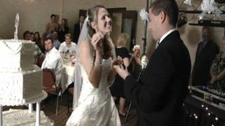 J&J VIDEO PRODUCTIONS-CLEVELAND OHIO, 440-845-2122,  DAYTON WEDDING CAKE SMASHING