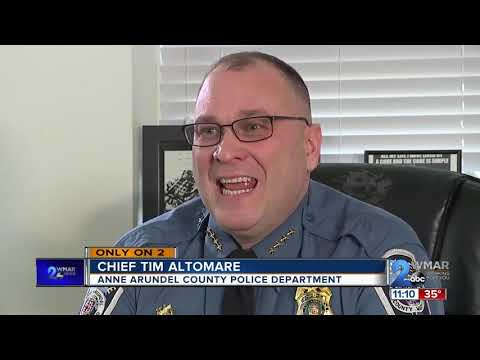 Anne Arundel County Police Chief Timothy Altomare Discusses The Two Detectives Shot And Policing