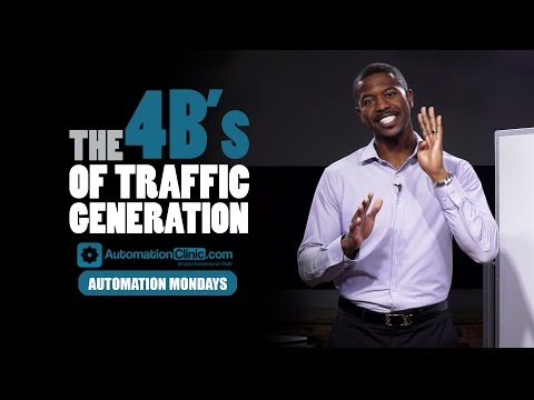 Automation Mondays - The 4 B's of Traffic Generation