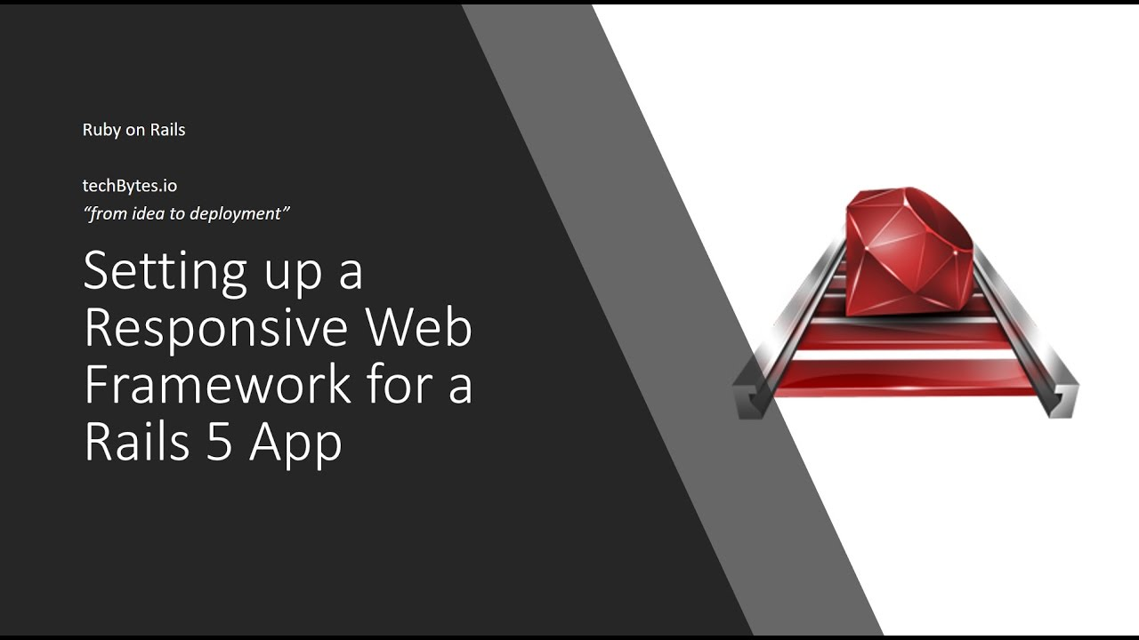 Creating a responsive ruby on rails 5 app with bootstrap 3