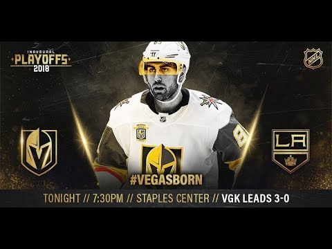 NHL 18 PS4. 2018 STANLEY CUP PLAYOFFS FIRST ROUND GAME 4 WEST: GOLDEN KNIGHTS VS KINGS. 04.17.2018 !