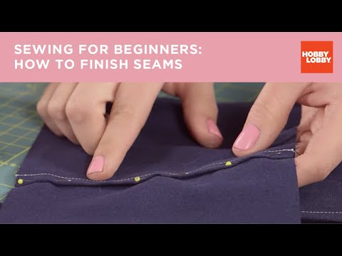 Learn to Sew: Finishing Seams