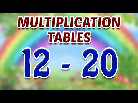 Learn Multiplication Tables (12 to 20) for Kids - Part 4 | Kids Learning Video