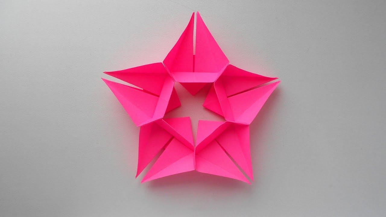 Звезда из бумаги к 23 февраля, 9 мая, Новый год