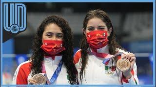 La mexicana habló tras subir al podio en el tercer lugar de los clavados sincronizados en los Juegos Olímpicos de Tokio 2020