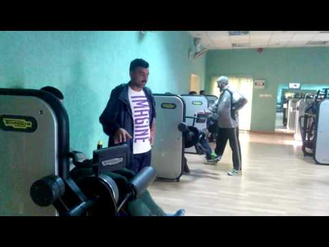 Pakistan cycling team gym training in sports complex Islamabad
