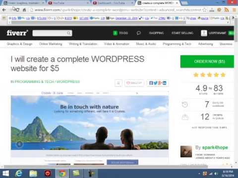 How to Hire a Webdesigner on Fiverr