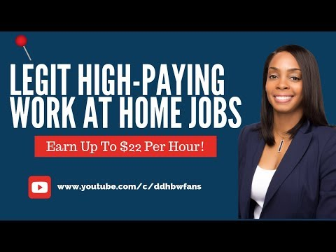 10 Legit High-Paying Work at Home Jobs, No Fees!