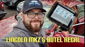 Lincoln MKZ Windshield Replacement Wrd BAT with AUTEL ADAS RECALIBRATION