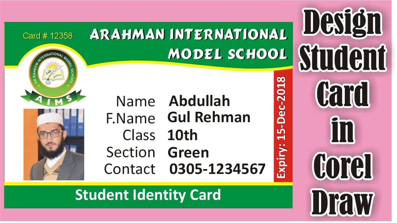 how to make studentemployee identity card in corel draw corel draw tutorial design 2 - Id In Design