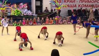 """Художественная гимнастика. Номер из гала-концерта XVI турнира """"Ника"""" (Владивосток, 30 мая 2013 года)"""