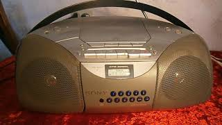 Обзор бумбокс SONY CFD 5200l CD RADIO CASSETTE Boombox Review