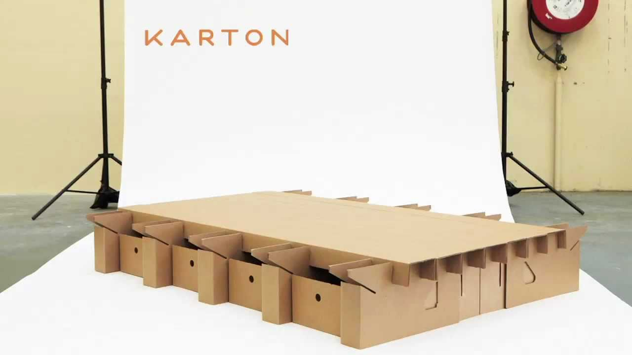 THE PAPERPEDIC BED - KARTON - YouTube