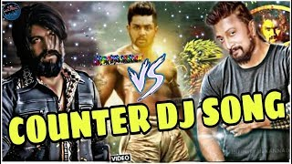 Pogaru vs kgf vs the villain films dialogue dj Kannada new latest dj song