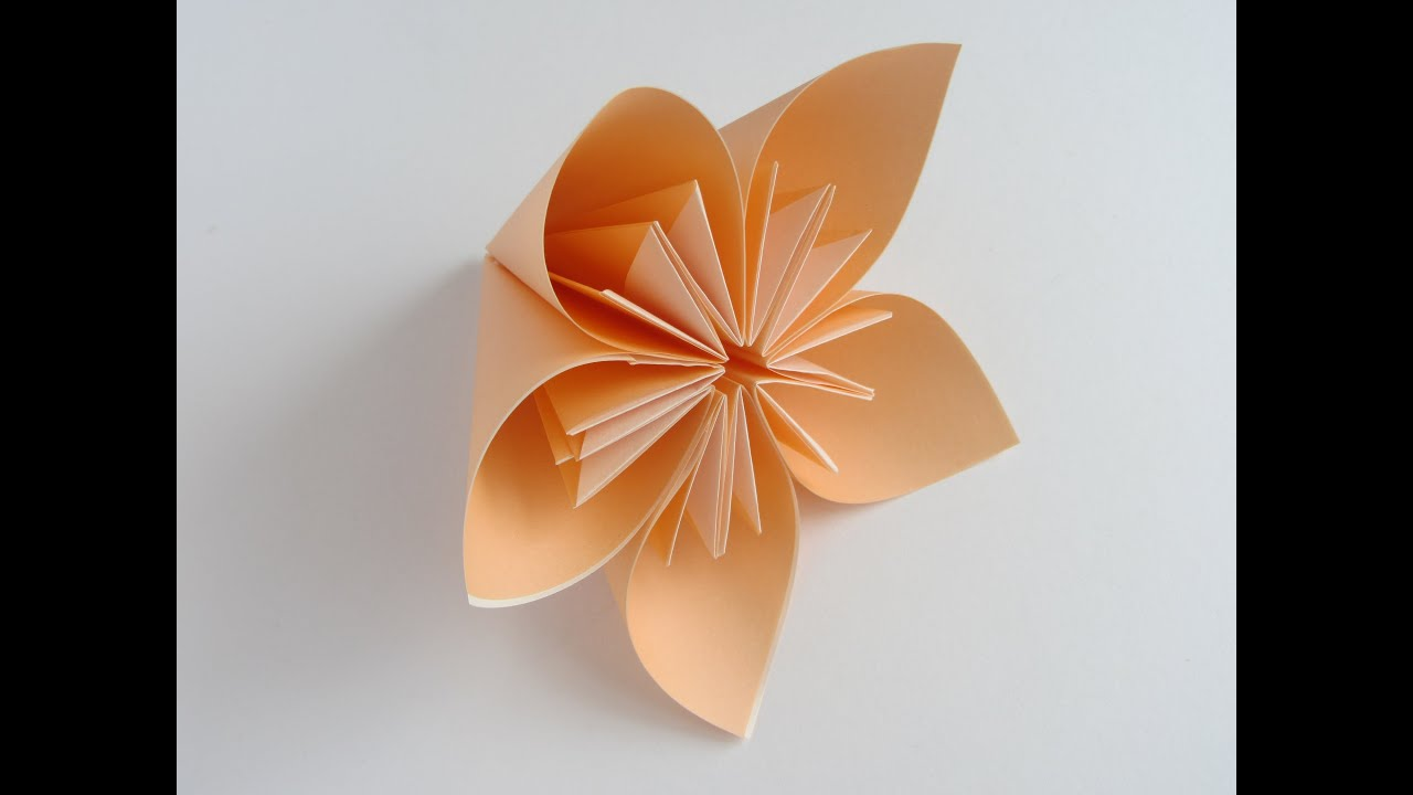 Origami kusudama flower youtube mightylinksfo