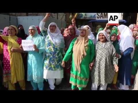 Clashes at protest against Indian rule in Kashmir