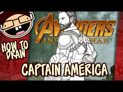 How to Draw CAPTAIN AMERICA (Avengers: Infinity War) | Narrated Easy Step-by-Step Tutorial