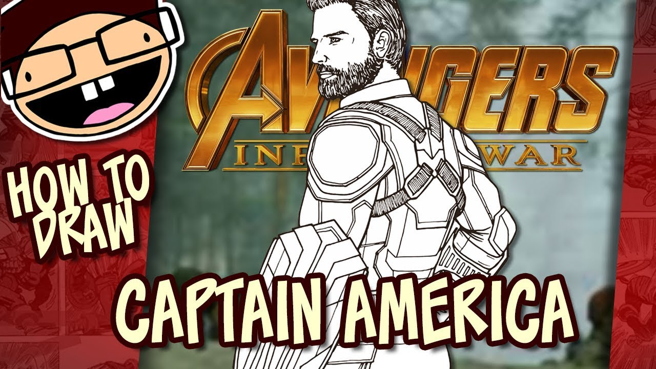 How To Draw Captain America Avengers Infinity War Narrated Easy