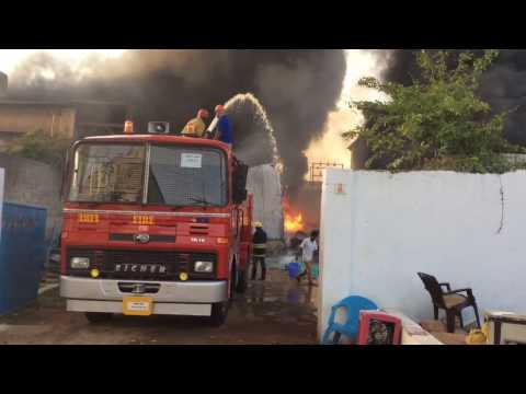 Fire mishap at air-cooler factory(1080p)IDA Nacharam Hyderabad