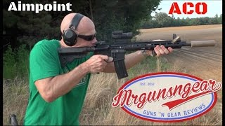 aimpoint aco aimpoint carbine optic 2 moa red dot review hd