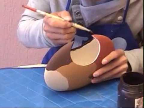 Pintar en ceramica jarron en gamuss efecto terciopelo - Como pintar sobre azulejos ...