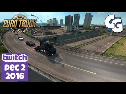 Euro Truck Simulator 2 - Twitch VOD - 2016-12-02 - ETS2 1.26 Update + Scania T 4-Series