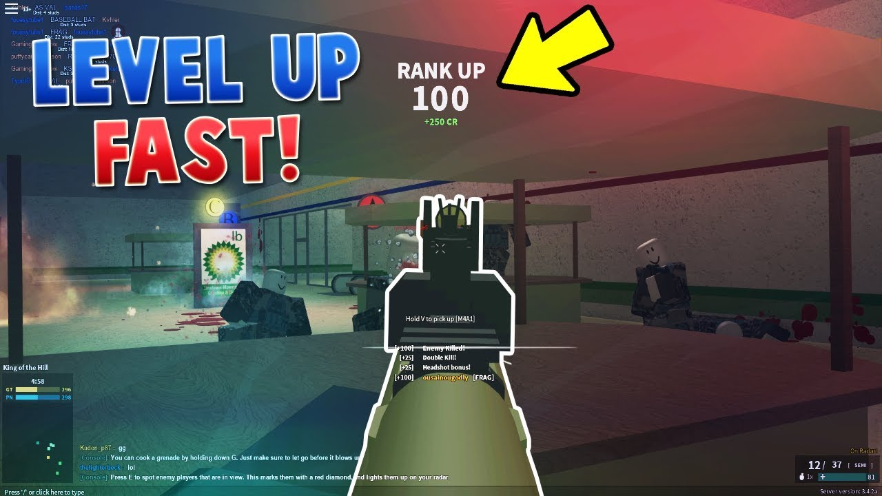 HOW TO RANK UP FAST! - Roblox Phantom Forces