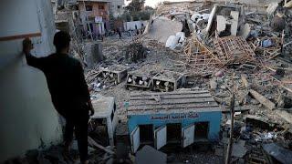 شاهد: الدمار الذي خلفته الضربات الجوية الإسرائيلية على قطاع غزة…