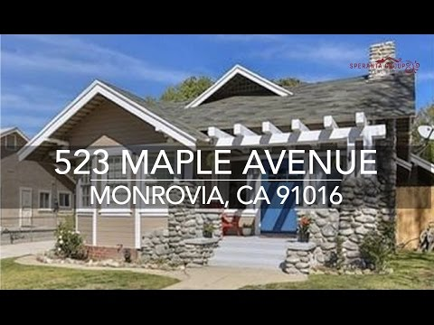 The Speranta Group Presents: 523 W. Maple Avenue, Monrovia