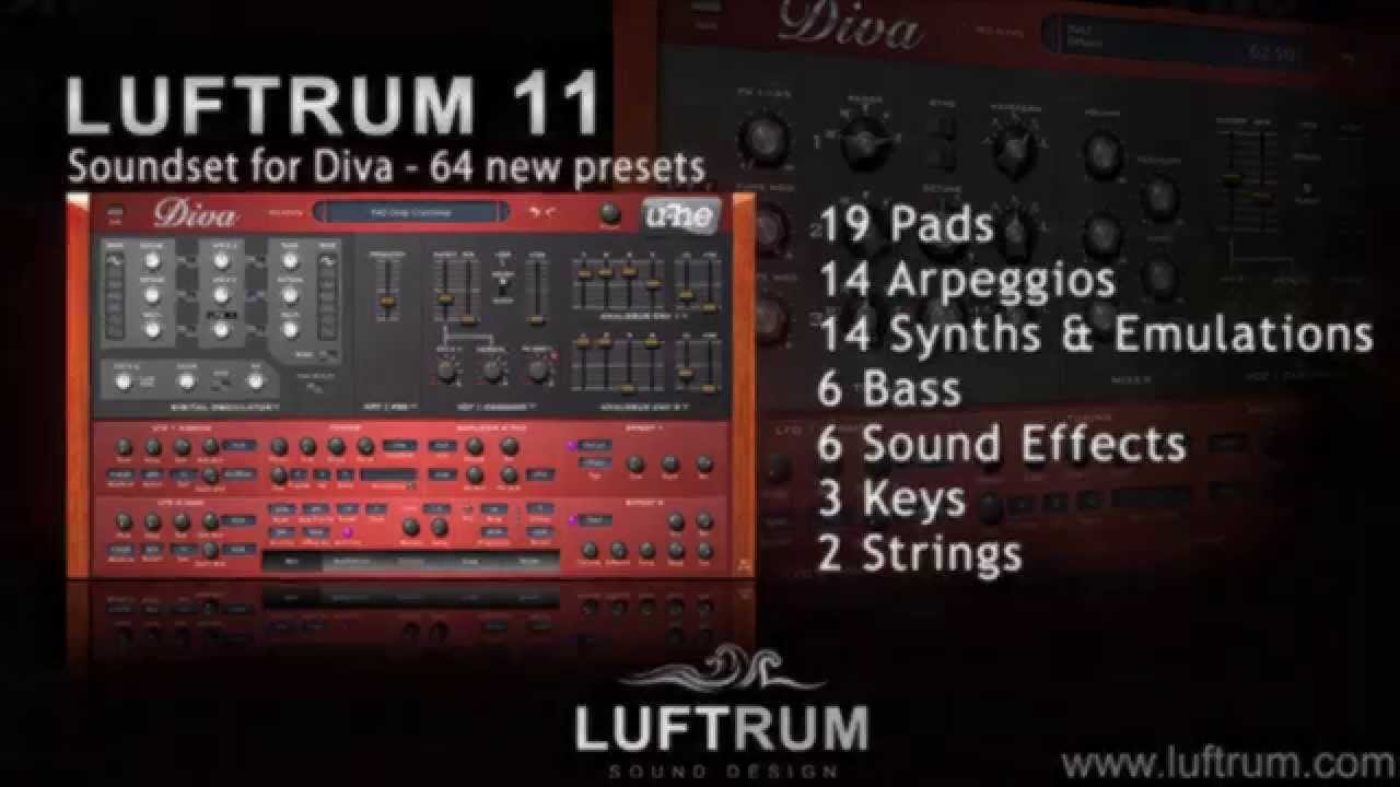 Luftrum 11 soundbank for u he diva youtube - U he diva ...